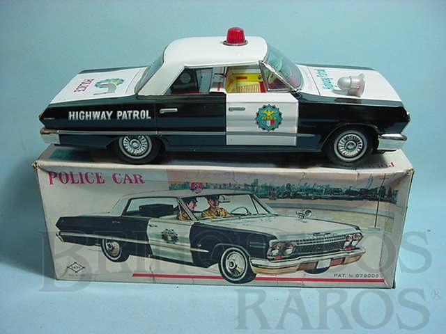 Brinquedo antigo Carro Impala 1962 Police Car com 26,00 cm de comprimento Década de 1970