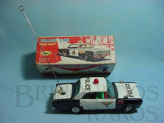 Brinquedo antigo Carro Dodge Dart Police Car com 23,00 cm de comprimento Década de 1960