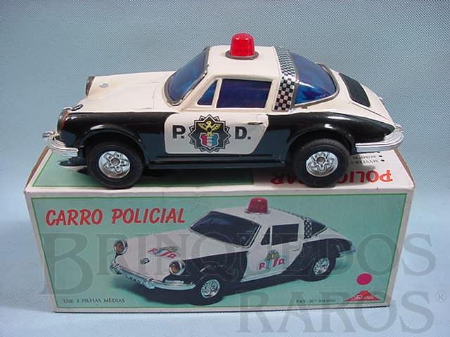 Brinquedo antigo Porsche 911 GT com 25,00 cm de comprimento Polícia