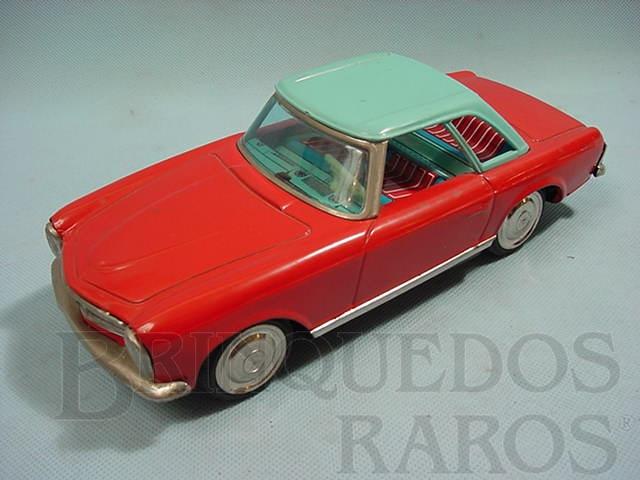 Brinquedo antigo Mercedes Benz 230 SL Vermelho e azul com 25,00 cm decomprimento Década de 1960