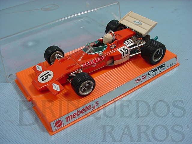 Brinquedo antigo Lotus Ford 72 Formula 1 cor laranja Ano 1972