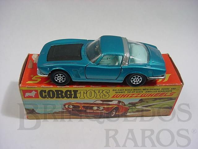 Brinquedo antigo Iso Grifo 7 Litre azul metálico