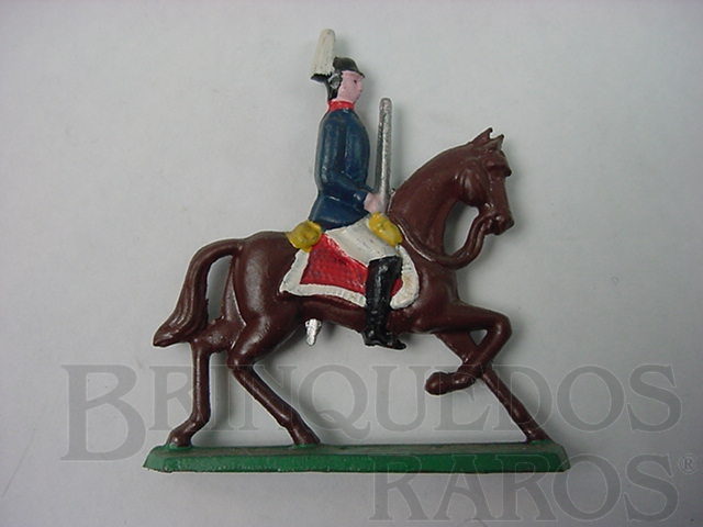 Brinquedo antigo Soldado a cavalo com espada Semi - Flat forma Schneider