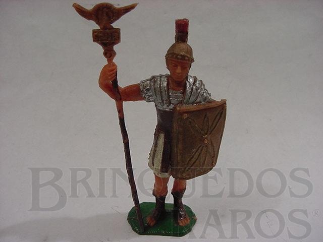 Brinquedo antigo Soldado Romano com escudo e estandarte