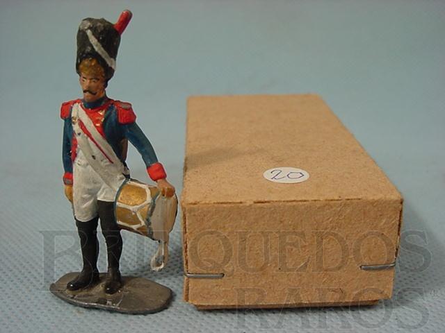 Brinquedo antigo Soldado do Exercito de Napoleão com tambor Década de 1970