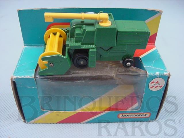 Brinquedo antigo Colheitadeira Combine Harvester Green Superfast verde Brazilian Matchbox Trol 1970
