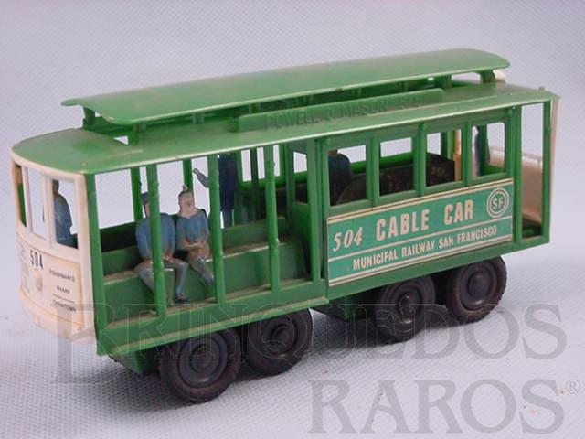 Brinquedo antigo Bonde San Francisco Cable Car com figuras Década de 1970