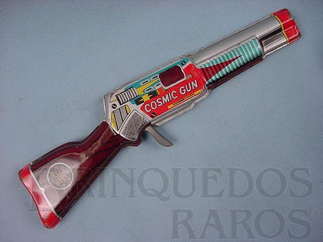 Brinquedo antigo Rifle Espacial Cosmic Gun com 30,00 cm de comprimento Década de 1970