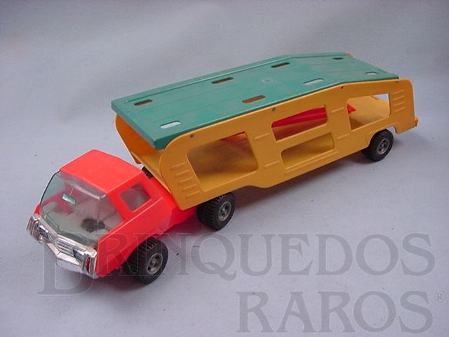 Brinquedo antigo Caminhão cegonha Super Jamanta Motor Show sem carros Ano 1975