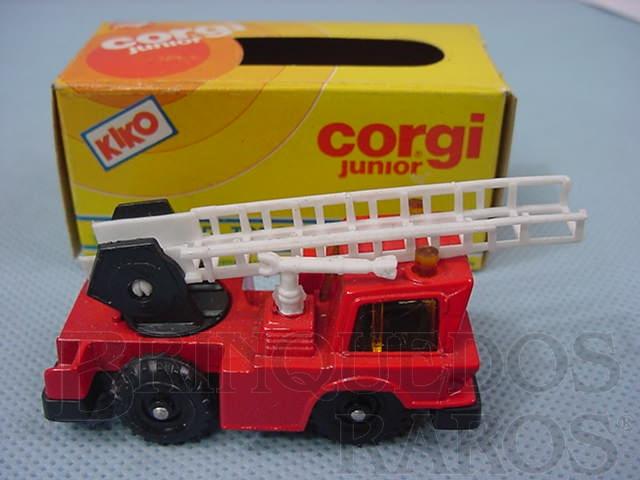 Brinquedo antigo Mobile Crane com escada Brazilian Corgi Jr Kiko Década de 1980