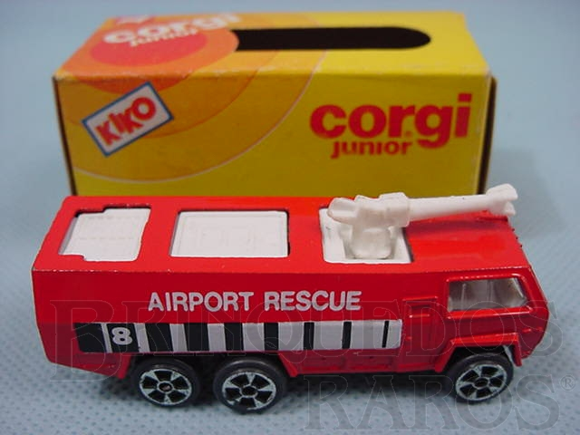 Brinquedo antigo Airport Crasch Tender Brazilian Corgi Jr Kiko Década de 1980