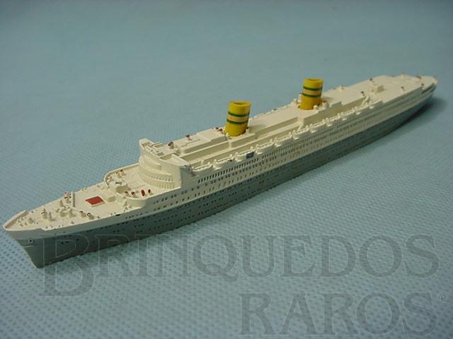 Brinquedo antigo Navio SS Nieuw Amsterdam Waterline Models Década de 1960