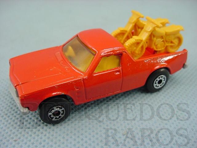 Brinquedo antigo Caminhonete Holden Pick Up Superfast Brazilian Matchbox laranja Inbrima 1970