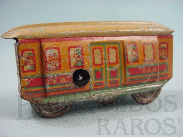 Brinquedo antigo Bonde com 9,00 cm de comprimento Penny Toy Década de 1920