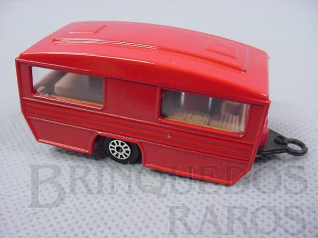 Brinquedo antigo Caravan Trailer vermelho Brazilian Corgi Jr Kiko Década de 1980