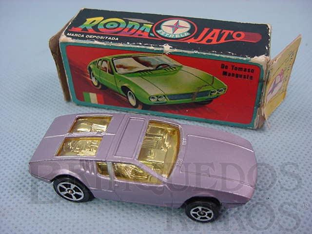 Brinquedo antigo De Tomaso Mangusta Corgi Jr Whizzwheels Roda Jato Importado pela Estrela Década de 1970