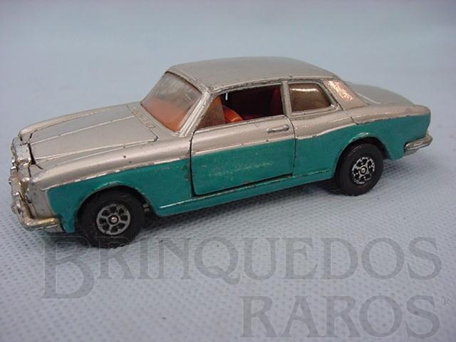 Brinquedo antigo Rolls Royce Silver Shadow prata e azul