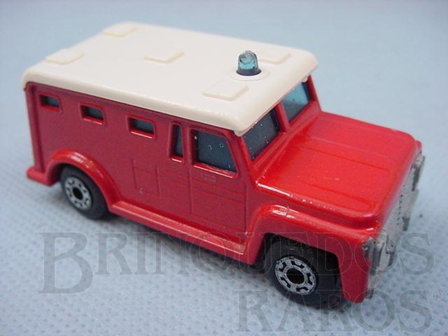 Brinquedo antigo Armored Truck Superfast vermelho Brazilian Matchbox Inbrima 1970