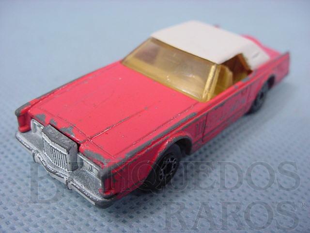 Brinquedo antigo Lincoln Continental MK V Superfast salmão Brazilian Matchbox Inbrima 1970