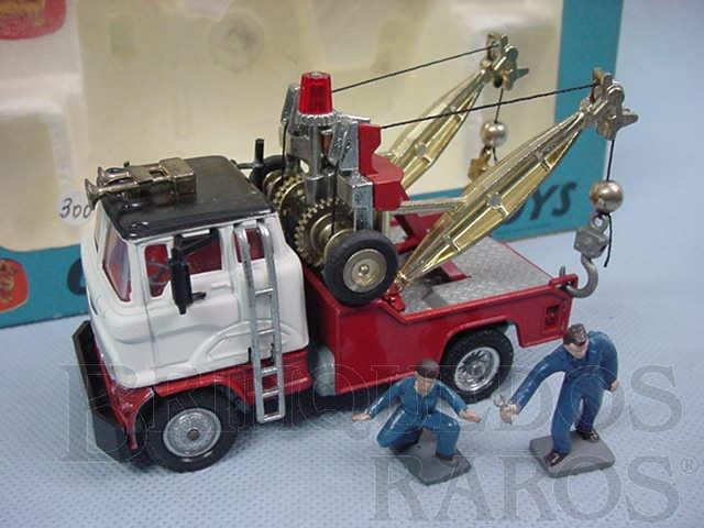 Brinquedo antigo Holmes Wrecker Recovery Vehicle Corgi Major completo com figuras