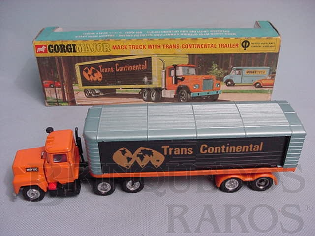 Brinquedo antigo Mack Truck with Trans-Continental Trailer Corgi Majors
