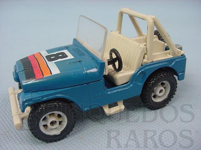 Brinquedo antigo Jeep Chrysler CJ5 Azul sem capota Brazilian Corgi Toys Kiko