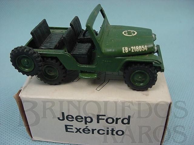 Brinquedo antigo Jeep Ford Willys Exército Brasileiro Década de 1970