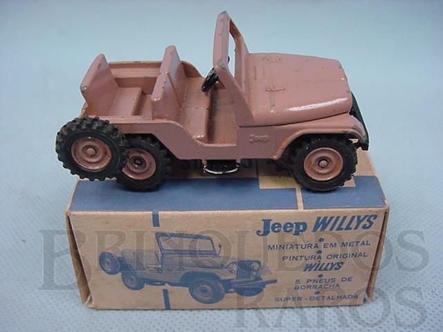 Brinquedo antigo Jeep Willys Civil Década de 1960