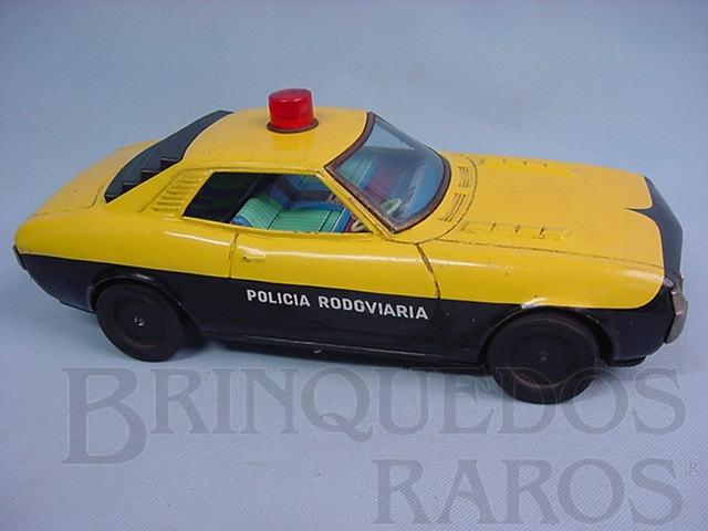 Brinquedo antigo Toyota Celica com 37,00 cm de comprimento Policia Rodoviaria