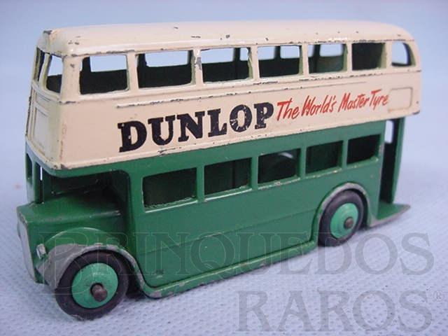 Brinquedo antigo Double Decker Bus Dunlop Ano 1938