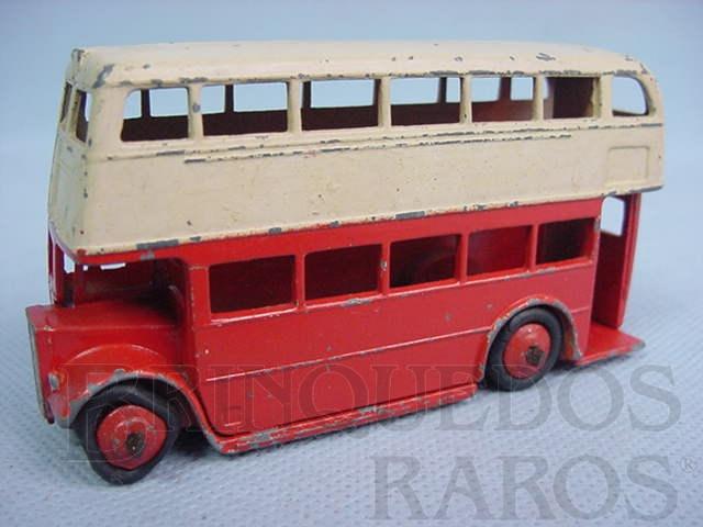 Brinquedo antigo Double Decker Bus vermelho Ano 1949