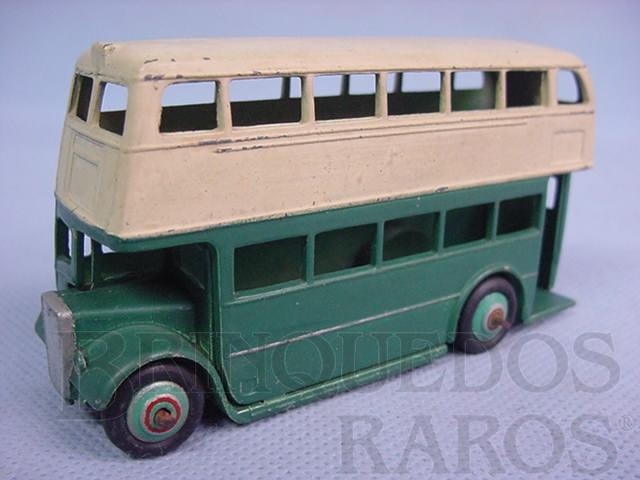 Brinquedo antigo Double Decker Bus verde Ano 1949