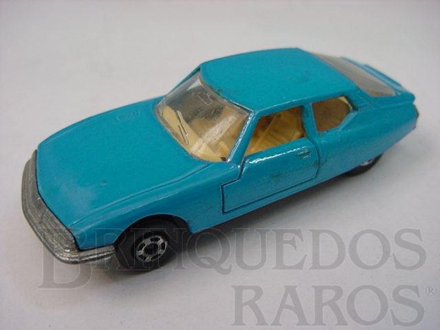 Brinquedo antigo Citroen SM Superfast azul Brazilian Matchbox Inbrima 1970