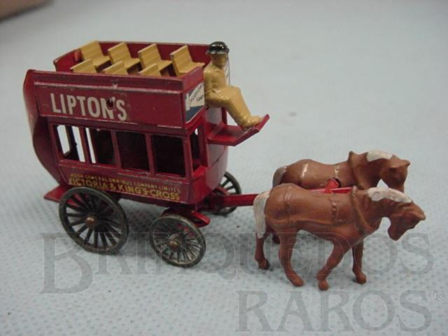 Brinquedo antigo 1899 London Horse Draw Bus Yesteryear Ano 1959