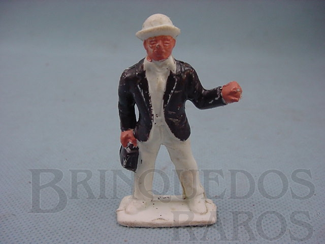 Brinquedo antigo Figura do Doutor Galen Adams do Filme Série Gunsmoke Década de 1970