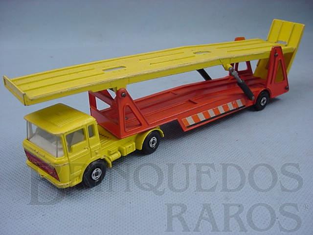 Brinquedo antigo Caminhão Cegonha DAF Car Transporter Super Kings