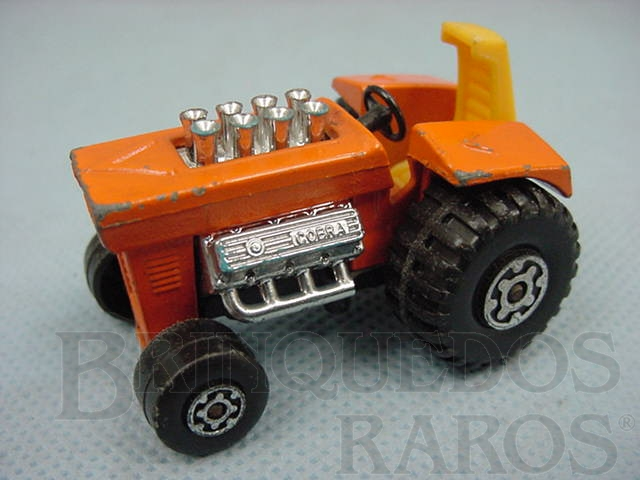 Brinquedo antigo Mod Tractor Superfast laranja Brazilian Matchbox Inbrima 1970
