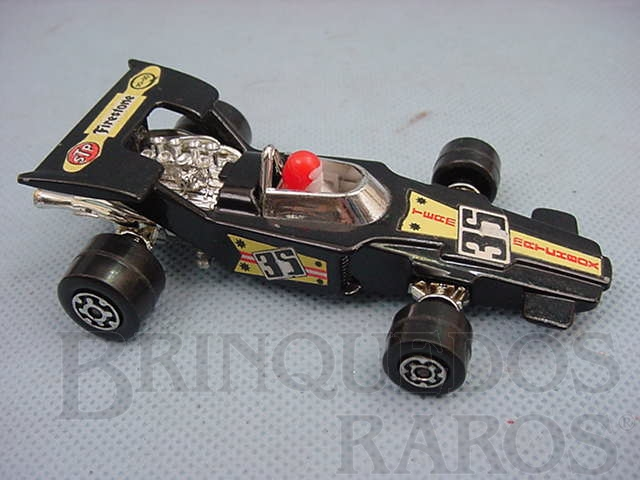 Brinquedo antigo Lightning Fórmula 1 Speed Kings preto Brazilian Matchbox Inbrima 1970