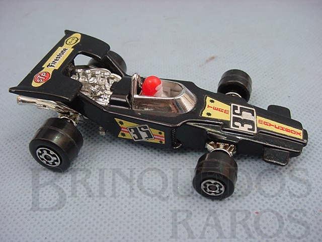 Brinquedo antigo Lightning Fórmula 1 Speed Kings preto Brazilian Matchbox Inbrima 1970