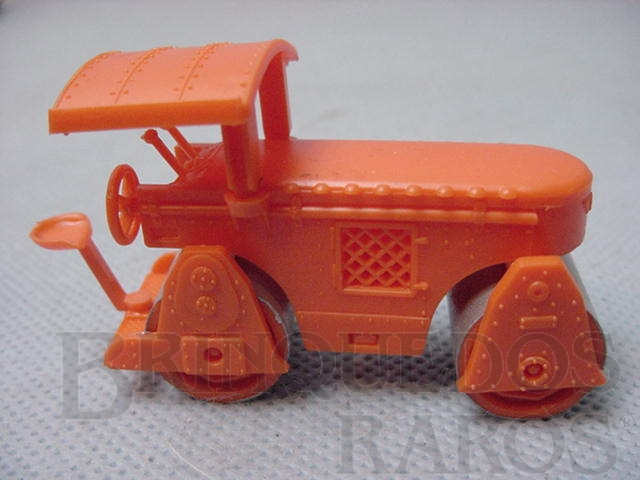 Brinquedo antigo Rolo Compactador HAMM, com 6,00 cm de comprimento. Década de 1960