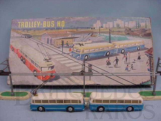 Brinquedo antigo Trolley Bus HO Completo Década de 1960