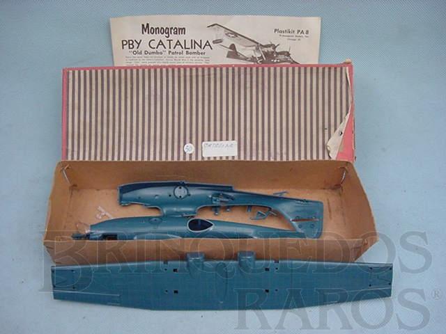 Brinquedo antigo Avião PBY Catalina importado e embalado pela Mobral na década de 1970 Falta a folha de decais