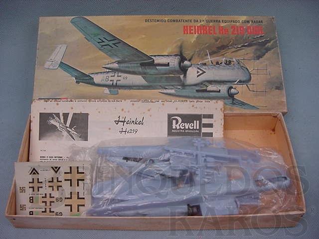 Brinquedo antigo Avião Heinkel He219 OWL caixa dura