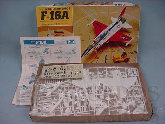 Brinquedo antigo Avião General Dynamics F16 A caixa mole