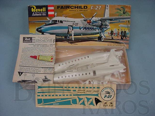 Brinquedo antigo Avião Fairchild F27 primeira versão caixa dura
