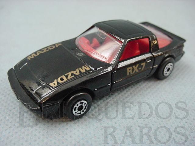 Brinquedo antigo Mazda RX 7 Superfast preto Brazilian Matchbox Inbrima 1970