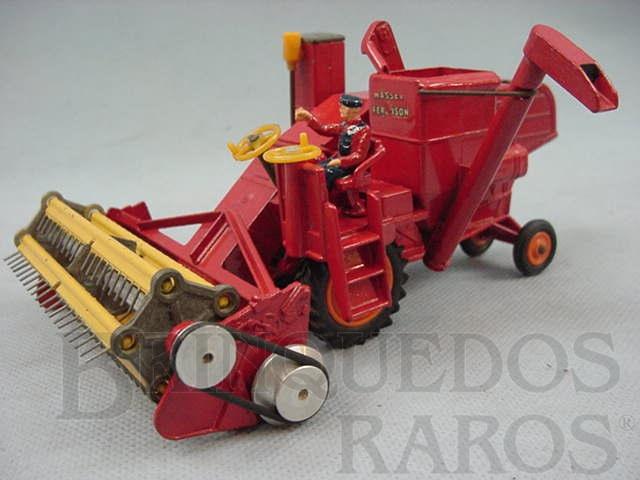 Brinquedo antigo Colheitadeira Combine Harvester Massey Ferguson