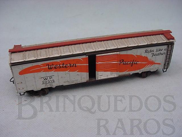 Brinquedo antigo Vagão Box linha americana Western Pacific