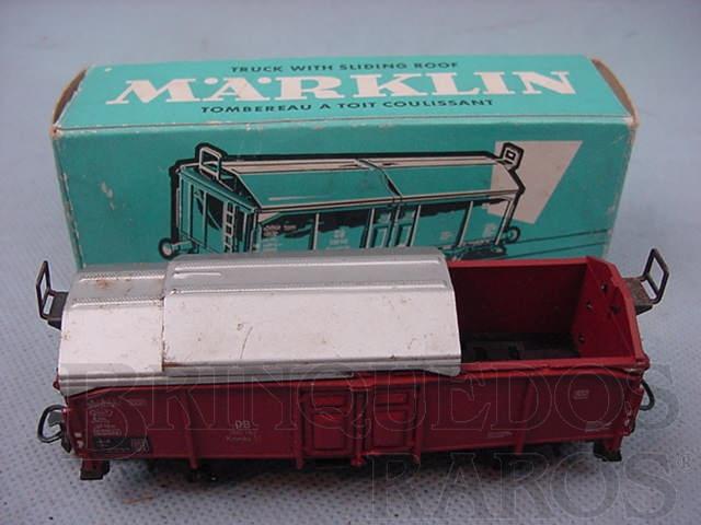 Brinquedo antigo Vagão Furgão com teto deslisante Linha DB Década de 1960