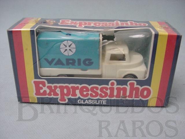 Brinquedo antigo Expressinho Glasslite Varig Embalagem lacrada
